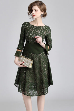Lace Vintage Style Vintage  A-Line Mini Dress