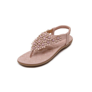 Flat Elegant Flower Rivet Casual Sandals