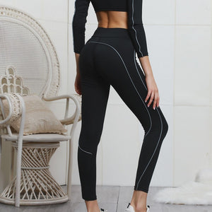 Crop Top High Waist Sportswear Fitness Yoga Set