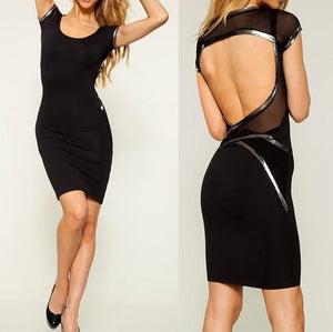 Hollow Out Backless High Street Empire Bandage Dress Verkadi.com