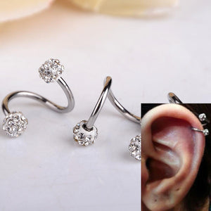 Obliging Crystal Twist Helix Cartilage Earring Stud Verkadi.com