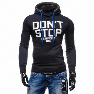 Style Slim Fit Turtleneck Hoodie Sweatshirt