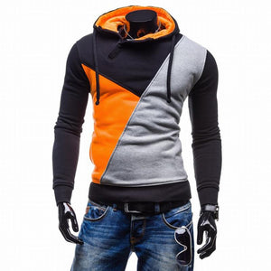 Color Patchwork Slim Fit Hoodie Sweatshirt Verkadi.com