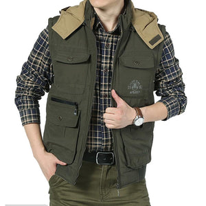 Reversible Hooded Multi Pocket Photographer's Vest Verkadi.com