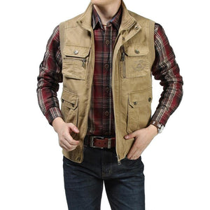 Cotton Outdoor Multiple Pockets Men Vest  Verkadi.com