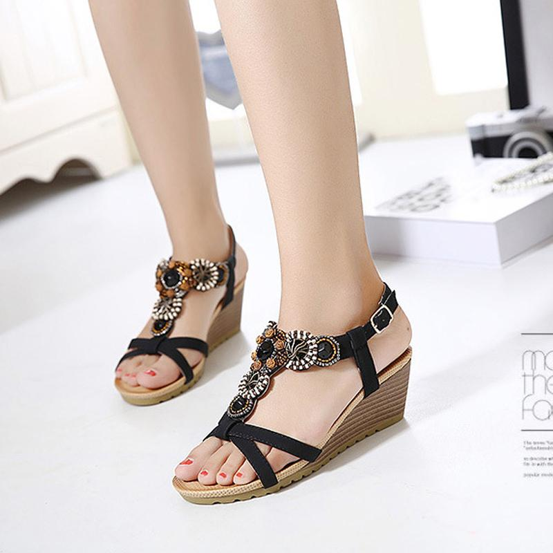 Summer Sandals Bohemia Wedge Gladiator Sandals Verkadi.com