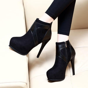Fashion Ankle Elegant High Heel Pump Boots Verkadi.com