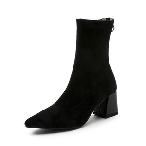 Newest Runway High Heel Pointed Toe Ankle Boots