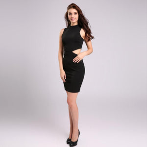 Hot Hollow Out Turtleneck Vestidos Club Party Dress Verkadi.com