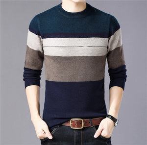 Hip Thick Warm Cashmere Wool Men Sweater Pullover
