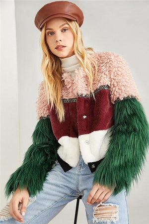 colorful faux fur women Jackets by verkadi
