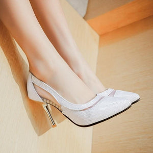 Smart Bling High Heels Glitter Hollow Out Pumps Shoes Verkadi.com