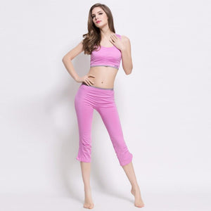 Smart Pink Stretch Fitness Workout Gym Yoga Set