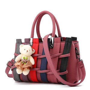 Hip Hop Multi Color Strip Trendy Handbag Verkadi.com
