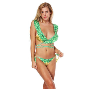 Hot Bandage Pineapple Fruit 3D Print Swimwear Bikini Set Verkadi.com