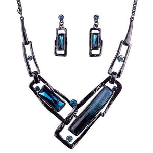 Glass Block Crystal Resin Jewelry Set Verkadi.com