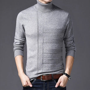 Apt Thick Warm Slim Fit Turtleneck Men Cashmere Sweater Pullover