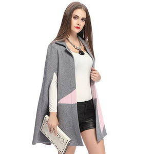 Hyper Fashion Fringe Woolen Coat Cloak Cardigan