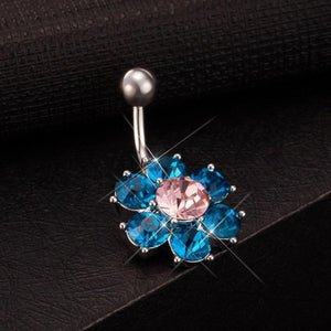 Sexy Colorful Flower Leaves Navel Piercing Belly Button Ring Verkadi.com