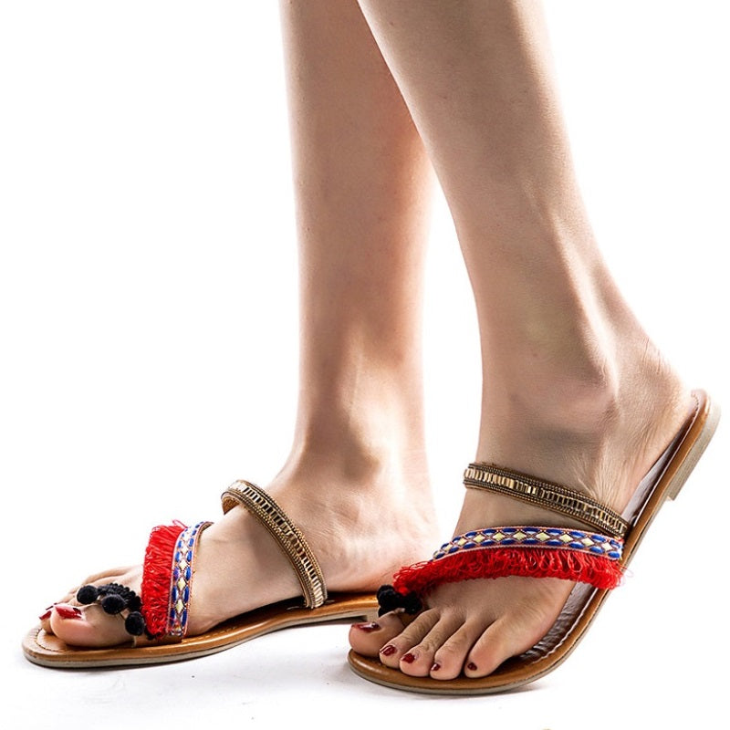 Women Spring Ethnic Roman Style Summer Flat Sandals
