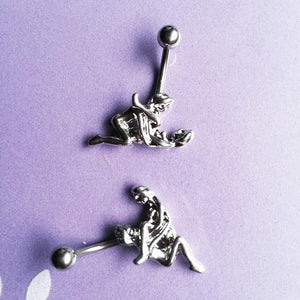 Romantic Love Pose Navel Piercing Belly Button Ring