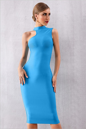 Tank Bandage Sleeveless Bodycon Club Party Midi Dress