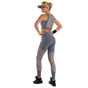 Soft Hip Up Hollow Stretchy Fitness Sportswear Yoga Set Verkadi.com