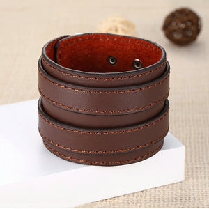 Leather Wrist Wrap Bracelet