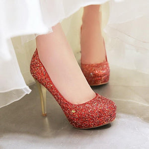 New Sexy Bling Thin High Heels Platform Pump Shoes Verkadi.com