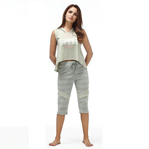 Cotton Hoodie Top Shorts Nightwear Pajama Set Verkadi.com