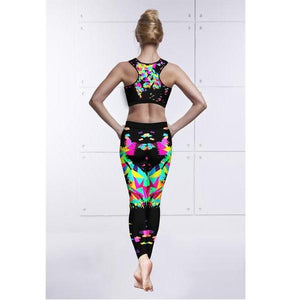 3-D Print Women Sportswear Yoga Set