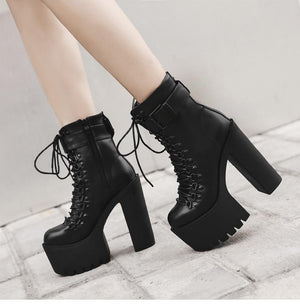 Hot Ankle Motorcycle High Heels Women Boots Verkadi.com