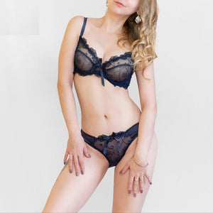 French Style Sexy Design Lace Push Up Lingerie Set Verkadi.com