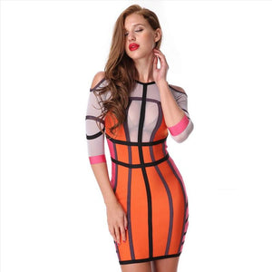 Hot Bodycon O-Neck Mini Club Evening Party Dress Verkadi.com
