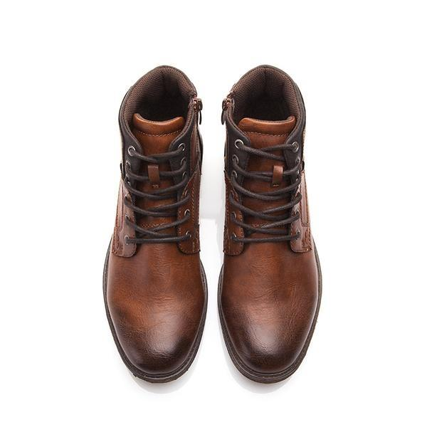 Vintage Style Casual High-Cut Men Boots Verkadi.com