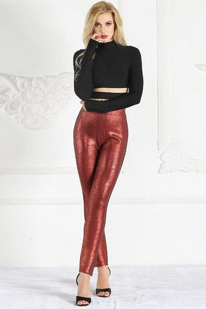 Crop Top High Waist Skinny Pants Cocktail Party Dresses