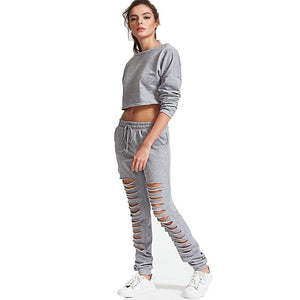 Top Hollow Back Tracksuit Fitness Running Yoga Set