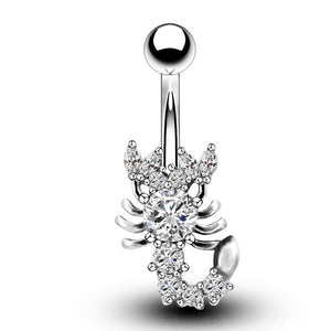 Sexy Scorpion Curve Navel Piercing Belly Button Ring Verkadi.com