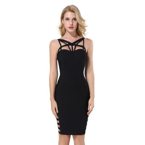 Hot Backless Hollow Out Bodycon Party Club Dress Verkadi.com