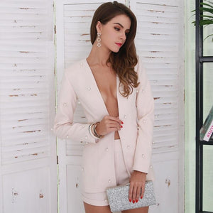 Elegant Solid Color Long Sleeve Play Suit Set Verkadi.com