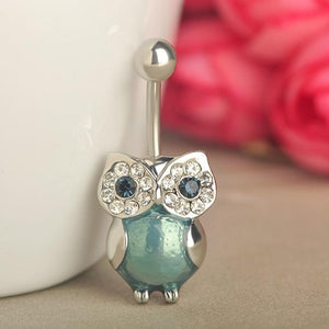 Hot Owl Character Navel Piercing Belly Button Ring