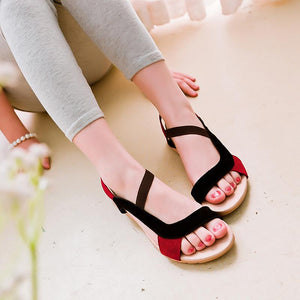 Cool Suede Leather Flat Casual Flat Sandals Verkadi.com