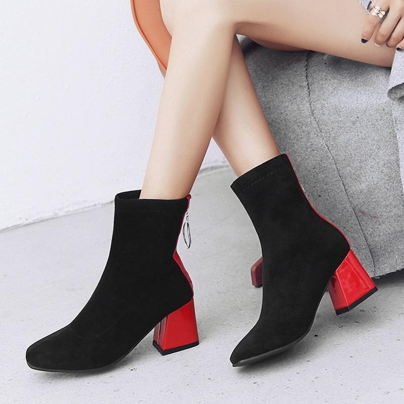 Hip Modern Wear Round Toe High Heel Ankle Boots Verkadi.com