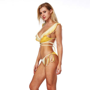Hot Bandage Lemonade 3D Print Padded Swimwear Bikini Set Verkadi.com
