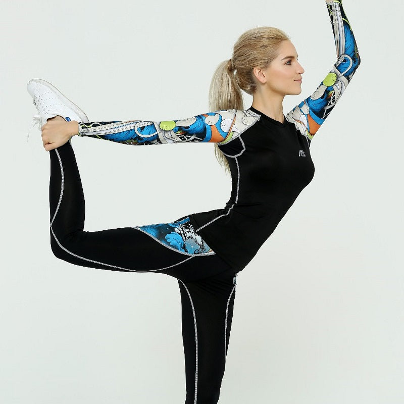 Printed Compression Sportswear Fitness Workout Yoga Set