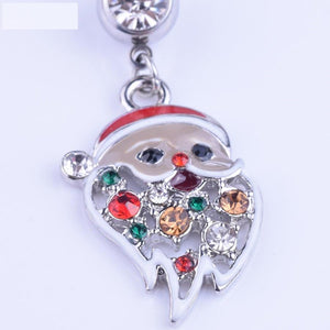 Colorful Santa Claus Belly Button Ring