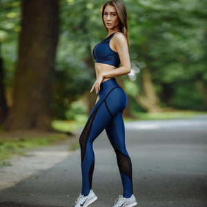 Sexy Mesh High Waist Push Up Workout Leggings Tights