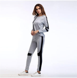 Long Sleeve Fitness Active Wear Tracksuit Yoga Set Verkadi.com
