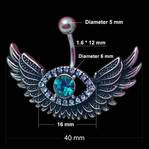 Eye Angel Wing Navel Piercing Belly Button Ring Verkadi.com