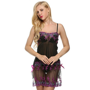 Sexy Elegant Nightwear With Embroidery Lingerie Set Verkadi.com
